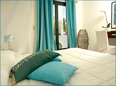plan de sa chambre: couleur turquoise