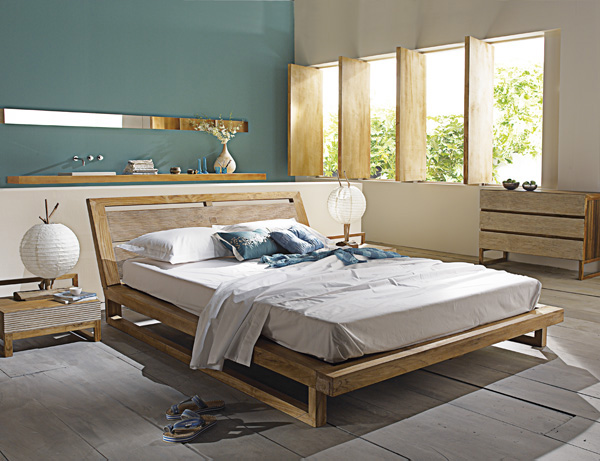 Awesome Chambre Bleu Turquoise Et Beige Contemporary - Design ...