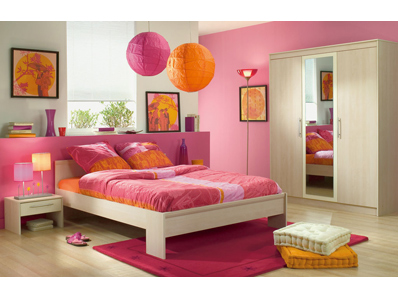 Stunning Chambre Orange Et Rose Pictures - Design Trends 2017 ...
