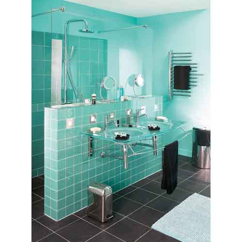 Beautiful Salle De Bain Turquoise Gallery - Amazing House Design ...