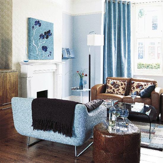 Qelle couleur avec un canapé bleu dur, 090312063441506173304478