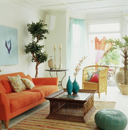 Autour d'un canapé orange : Vous avez le champ libre ! 090322100107506173352564