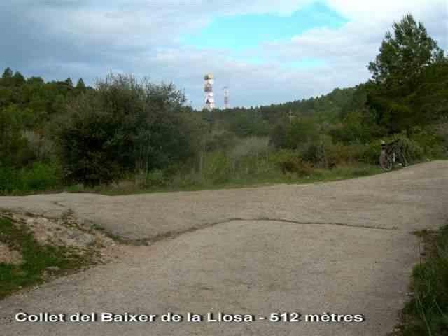 Collet del Baixer de la Llosa - ES-T- 512 mètres