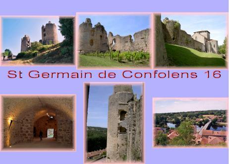 carte charente - carte St Germain de Confolens