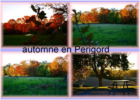 carte dordogne - carte automne Segonzac