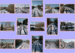 Album carte  train