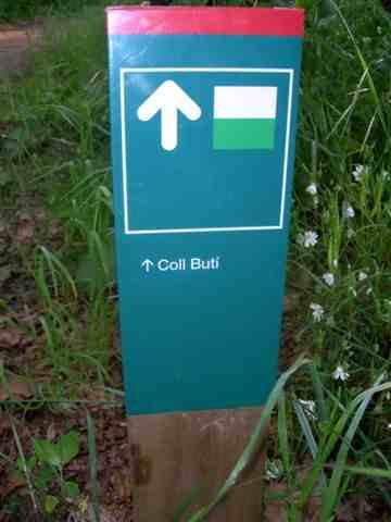 Coll Buti - (Panneau directionnel)
