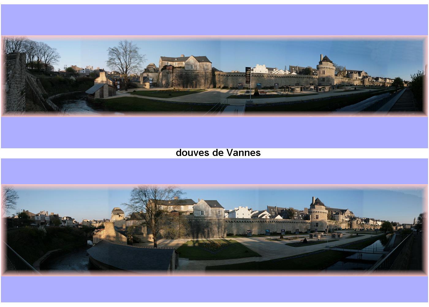 viree07 vannes - carte postale Vannes douve
