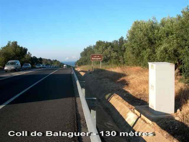 Coll de Balaguer controlé par radar