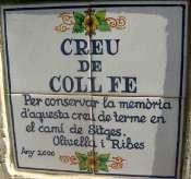 La Creu de Coll Fito (Fe) - ES-B-0427 (plaque)