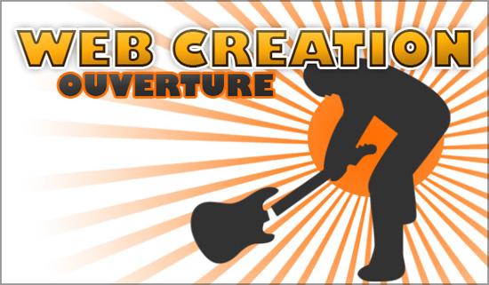 Web création ouverture
